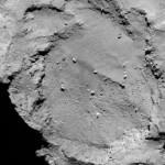 Zbliżenie miejsca B, kandydata na lądowisko Philae / Credit: ESA/Rosetta/MPS for OSIRIS Team MPS/UPD/LAM/IAA/SSO/INTA/UPM/DASP/IDA