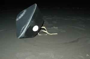 Aparat powrotny sondy Stardust zaraz po wylądowania w stanie Utah, 15 stycznia 2006 / Credit: NASA