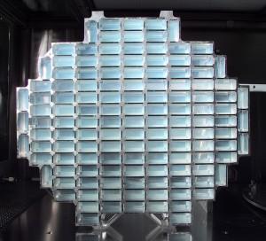 Aerożelowy kolektor pyłu kometarnego sondy Stardust / Credit: NASA