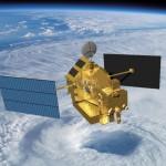 Wizualizacja satelity TRMM obserwującego cyklon / Credit: NASA