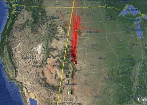 Google Earth/Spaceflight101/AMS
