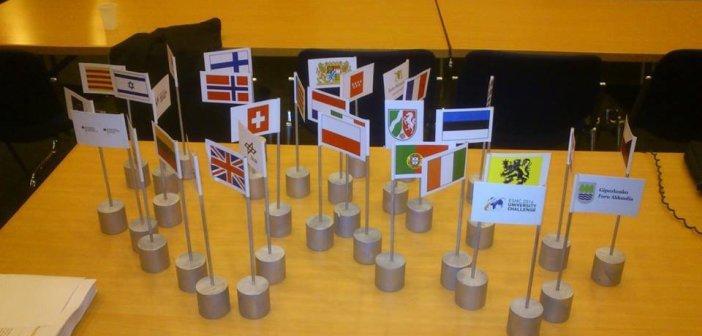 Flagi regionów i przedstawicieli konkursu ESNC 2014 / Credits - Krzysztof Kanawka