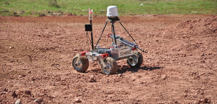 Robot Scorpio w trakcie zawodów ERC 2014