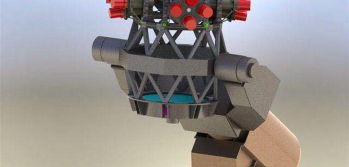 Model teleskopu do znajdywania obiektów NEO, budowanego dla ESA