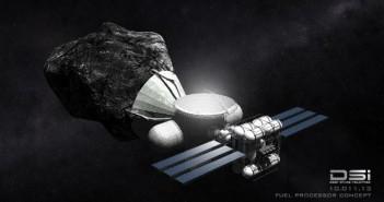 Koncepcja rafinerii przetwarzającej surowce pozyskane z asteroidy / Credit: Deep Space Industries