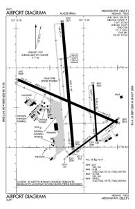 Schematyczny rysunek lotniska w Midland