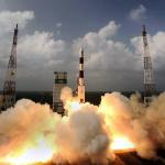 Start rakiety PSLV z misją C25, czyli sondą MOM, 5 listopada 2013 r., Centrum Lotów Kosmicznych Satish Dhawan