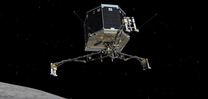 Philae tuż przed przyziemieniem na powierzchni 67P / Credit: ESA/ATG medialab