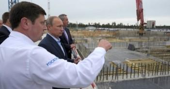 Władimir Putin wizytujący plac budowy kosmodromu Wostocznyj, 2 września 2014 / Credit: Biuro Prasowe i Informacyjne Prezydenta RF