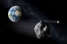 Obiekty typu NEO mijające Ziemię - wizja artystyczna