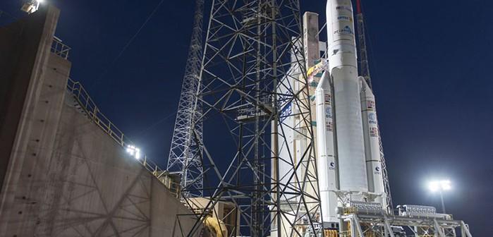 Ariane 5 V218 przed startem / Credit: Arianespace