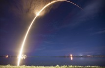 Start rakiety Falcon 9 z satelitą AsiaSat 6, 7 września 2014 / Credit: SpaceX