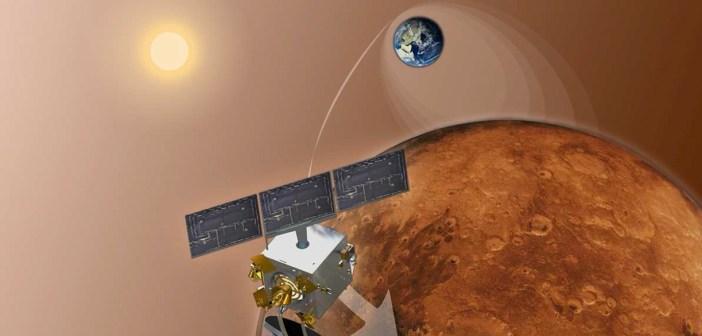 Wejście MOM na orbitę - wizja artystyczna