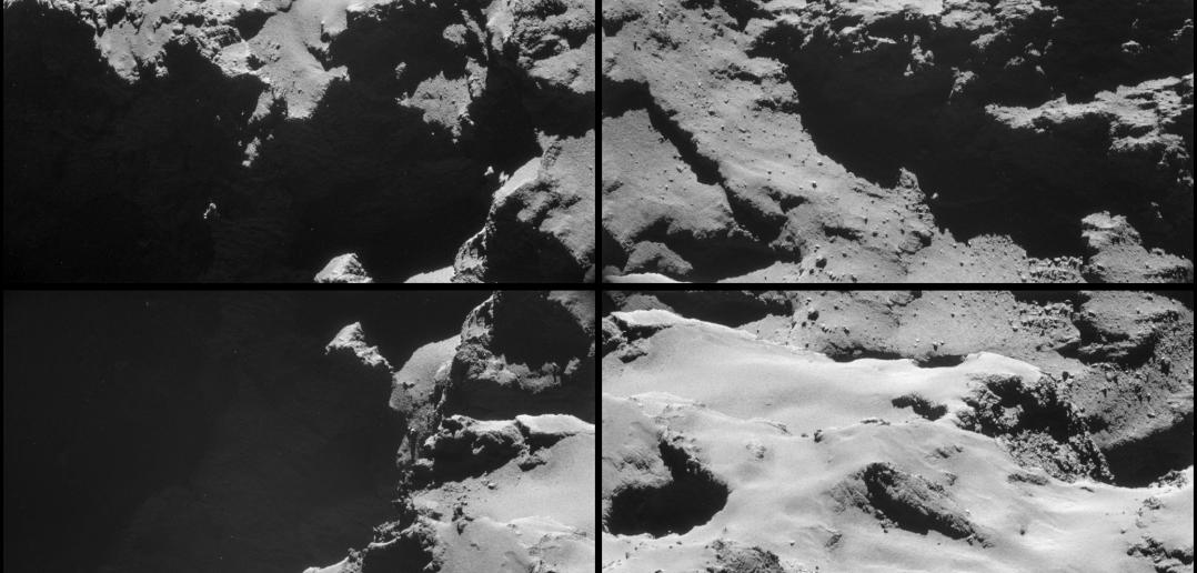 Kometa 67P/Czuriumow-Gierasimienko widziana z odległości około 8 kilometrów