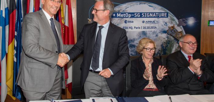 Podpisanie umowy na budowę satelitów MetOp-SG