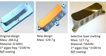 Lustro spektrometru TROPOMI przystosowane do produkcji addytywnej