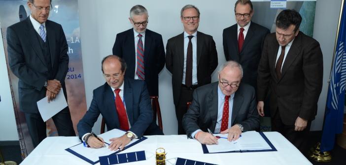 Podpisanie porozumienia między Komisją Europejską UE a ESA o pracach nad programem Copernicus w latach 2014-2021, 28.10.2014 / Credit: Unia Europejska