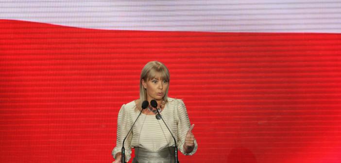 Elżbieta Bieńkowska na konwencji wyborczej w Chorzowie, 6 października 2011 r.