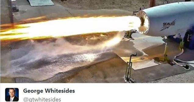 Zdjęcie z testu silnika SpaceShipTwo