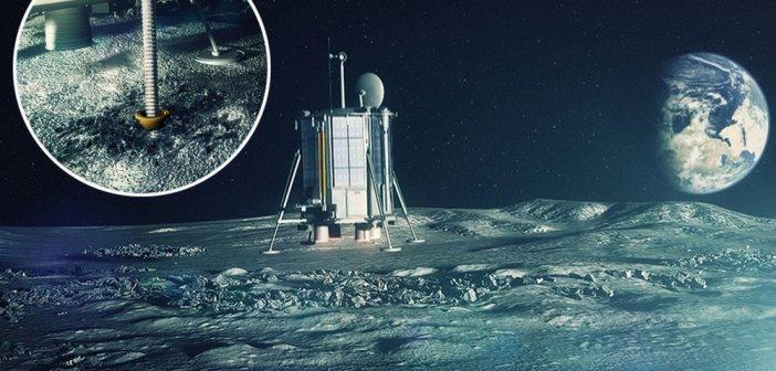 Grafika przedstawiająca koncepcję lądownika Lunar Mission One / Credits - LMO