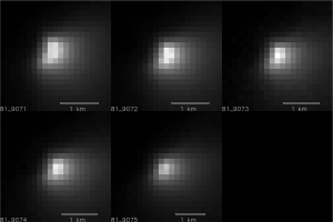 Jądro komety C/2013 A1 okiem instrumentu HiRISE orbitera MRO / Credits - NASA/JPL-Caltech/University of Arizona