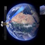 Wizualizacja połączenia laserowego między satelitami Sentinel 1A i Alphasat