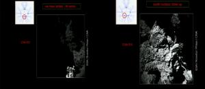 Pierwsze zdjęcia z powierzchni komety 67P, z kamer CIVA-P/3 i 4 lądownika Philae