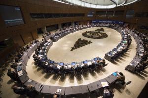 Obrady Rady Ministerialnej ESA, 2 grudnia 2014, Luksemburg / ESA Ministerial Council 2014 / Credit: ESA–S. Corvaja, 2014