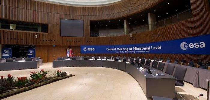 Sala obrad Rady Ministerialnej ESA 2014, Luksemburg