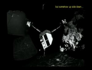 Pozycja Philae wnioskowana na podstawie zdjęć z CIVA - AGU 2014 / Credit: ESA/Philae/CIVA team