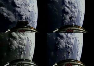 Widok z górnego stopnia na uwolnionego satelitę SMAP / Credits: ULA/NASA