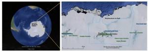 Obszar o nazwie Wybrzeże Księżniczki Ragnhildy / Credits -  Google Maps, NOAA