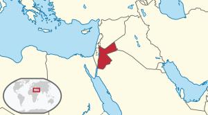 Położenie Jordanii na Bliskim Wschodzie / Credit: TUBS, License: CC-BY-SA 3.0