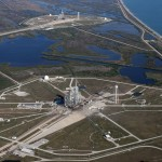 Widok na 2 platformy startowe kompleksu LC-39 / Credits - NASA