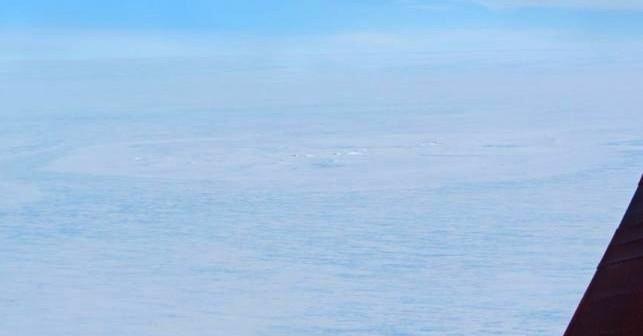 Zdjęcie domniemanego krateru na Antarktydzie / Credits - Tobias Binder, AWI