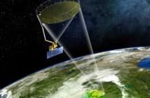 Wizja artystyczna satelity SMAP w czasie pracy na orbicie wokół Ziemi / Credits: NASA/JPL