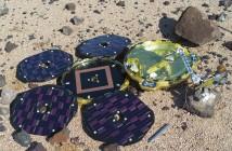 Model lądownika Beagle 2 w trakcie testów symulacyjnych na pustyni w Johnson Space Center