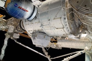 Grafika prezentująca moduł BEAM przyłączony do ISS / Credits - Bigelow Aerospace, NASA