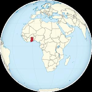 Położenie Ghany na kuli ziemskiej