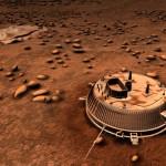Wizja artystyczna lądownika Huygens na powierzchni Tytana / Credits: ESA