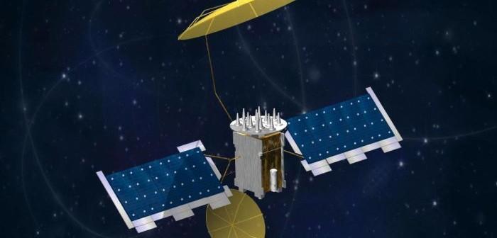 Wizja artystyczna satelity systemu MUOS (Navy)