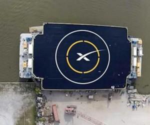 Platforma, na której SpaceX spróbuje posadzić pierwszy stopień rakiety Falcon 9 v1.1 / Credits - SpaceX