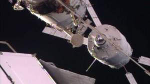 12 sierpnia 2014 - ATV-5 zbliża się do ISS / Credits - NASA TV