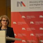 Przemawia Minister Grażyna Henclewska - podsekretarz stanu w Ministerstwie Gospodarki / Credits - K. Kanawka, kosmonauta.net