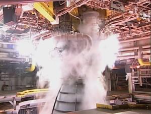Zbliżenie na stanowisko testowe A-1 w ośrodku Stennis / Credits: NASA