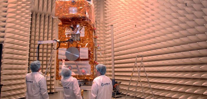 Sentinel-2A w trakcie testów kompatybilności elektromagnetycznej w Friedrichshafen
