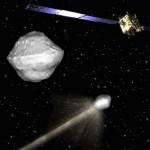 Wstępna koncepcja misji AIDA (oraz model planetoidy 65803 Didymos) / Credits - ESA