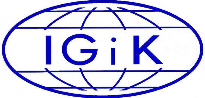 Logo Instytutu Geodezji i Kartografii / Credits - IGiK
