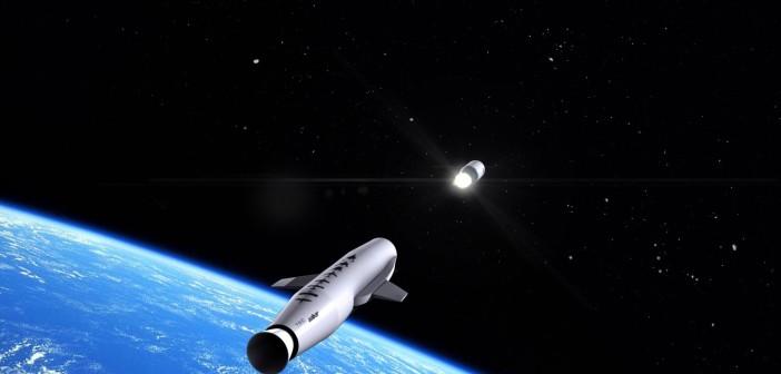 Satelizacja ładunku wyniesionego rakietą LauncherOne - wizualizacja