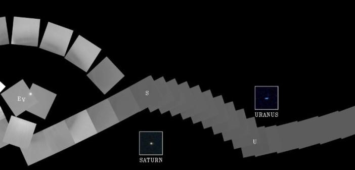 Mozaika zdjęć Układu Słonecznego wykonane przez Voyager 1 w 1990 roku / Credits - NASA